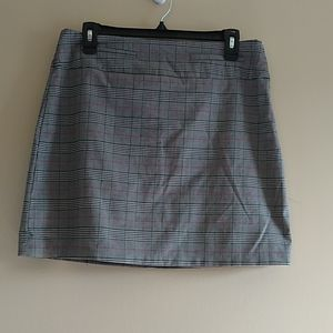Candies Plaid Pink and Grey Mini Skirt